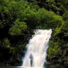 Waimea Falls in Waimea Valley, North Shore, Oahu