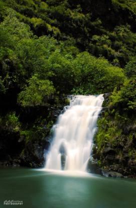 Waimea Falls in Waimea Valley, North Shore, Oahu