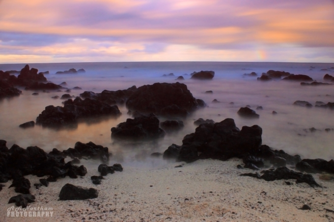Sandy Beach Park at Dusk, Oahu, Hawaii