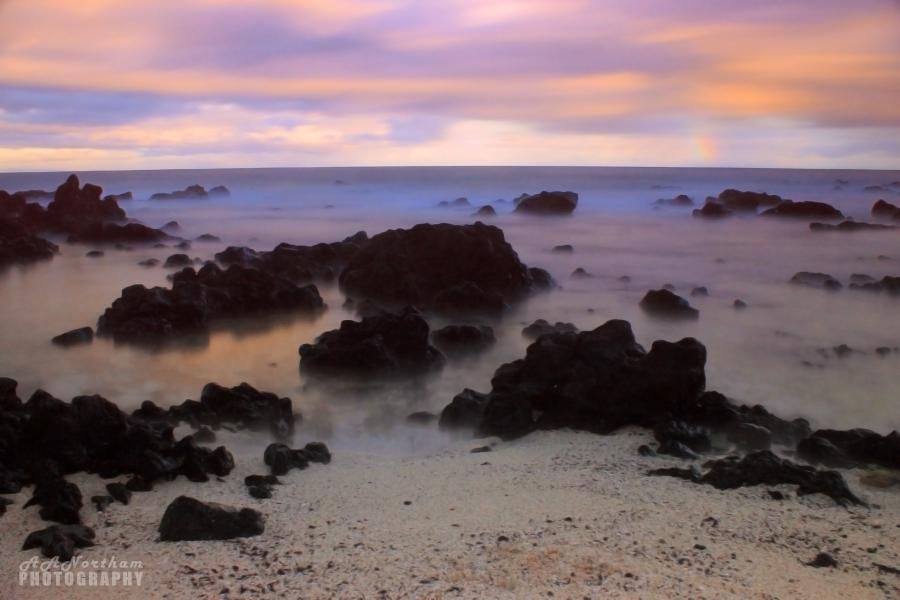 Sandy Beach Park at Dusk, Oahu, Hawaii